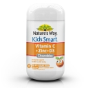 Nature's Way Kids Smart Vitamin C + Zinc + D3 Sugar Free Orange Flavour 75 chewable Tablets ( ships 23 July )