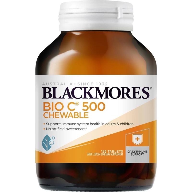 Blackmores Bio C Chewable 500 125 Pack