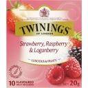 Túi trà Twinings Strawberry, Raspberry & Loganberry Tea Bags 10 Pack