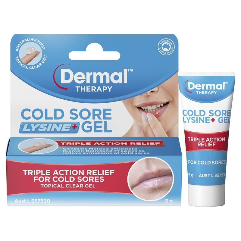 Dermal Therapy Cold Sore Lysine+ Gel 5g
