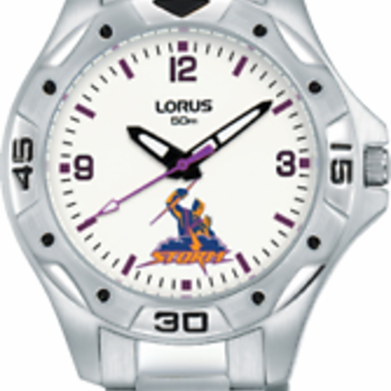 Official Melbourne Storm NRL Watch Childrens / Ladies Stainless Steel