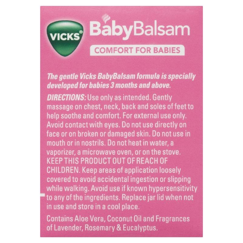 Dầu bôi ấm ngực cho bé Vicks Vaporub Baby Balsam 100g