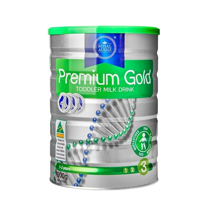 Royal AUSNZ Premium Gold Toddler Milk Drink Step 3 (1-3 Years) 900g
