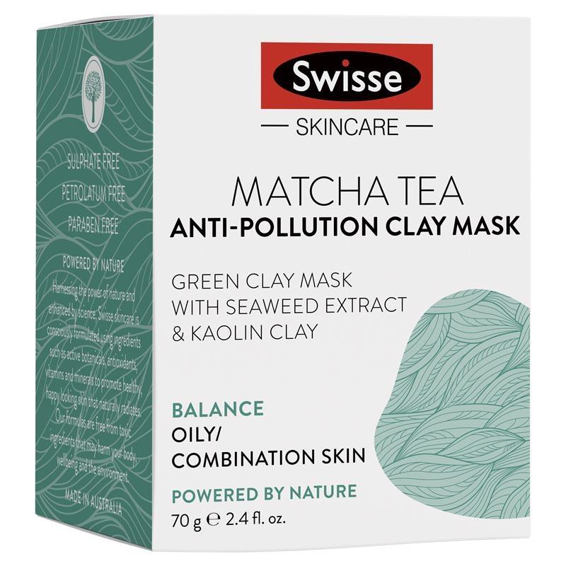 Mặt nạ Swisse Matcha Tea Anti Pollution Clay Mask 70g