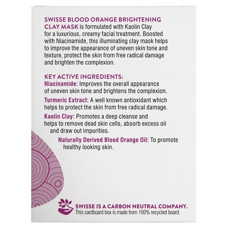 Mặt nạ Swisse Skincare Blood Orange Brightening Clay Mask 70g