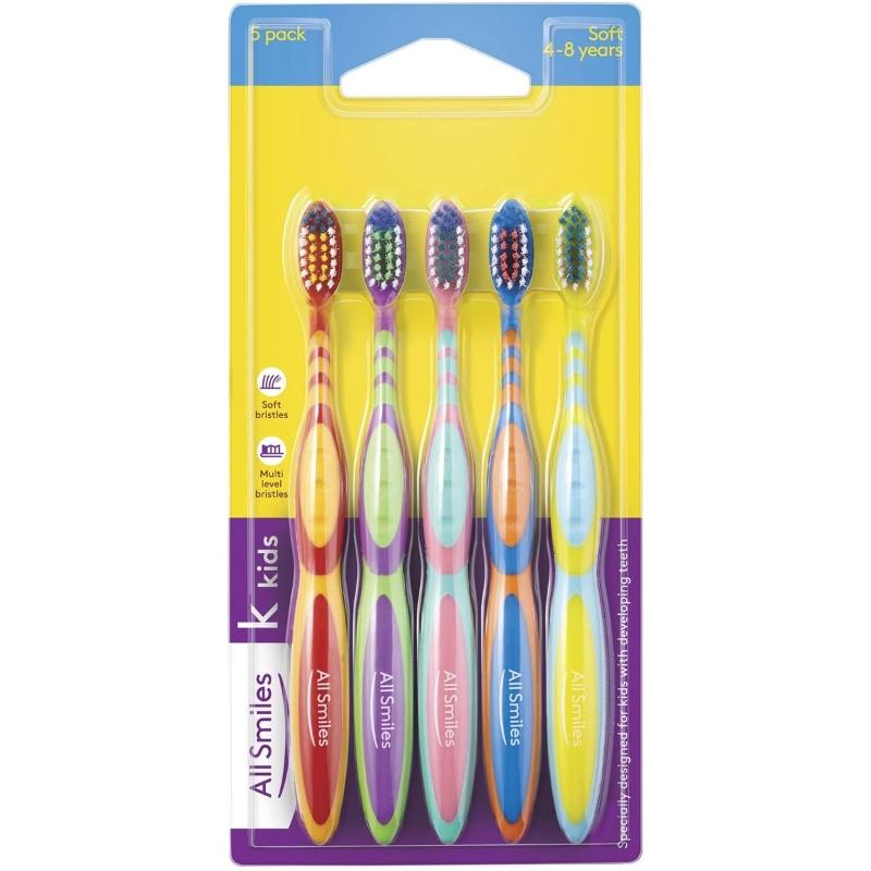 Bàn chải đánh răng All Smiles Toothbrush Kids Soft 5 Pack 5 pack