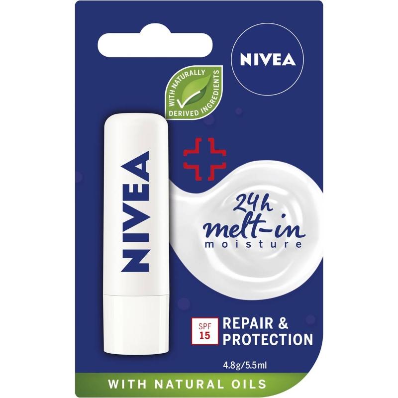 Son dưỡng chống nắng Nivea Repair & Protect Moisturising Lip Balm With Spf15 4.8g