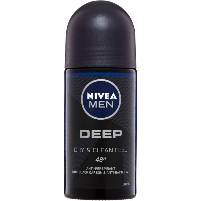 Lăn khử mùi Nivea Men Deep Roll On Antiperspirant Deodorant 50ml