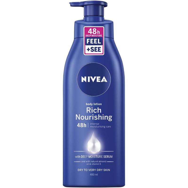 Sữa dưỡng thể Nivea Rich Nourishing Body Lotion Moisturiser+almond Oil 400ml