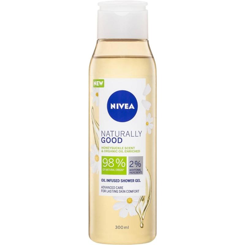Sữa tắm Nivea Naturally Good Honeysuckle & Bio Essential Oils Gel 300ml