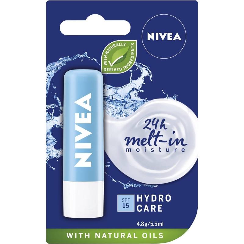 Son dưỡng chống nắng Nivea Hydrocare Moisturising Lip Balm + Shea Butter & Spf15 4.8g