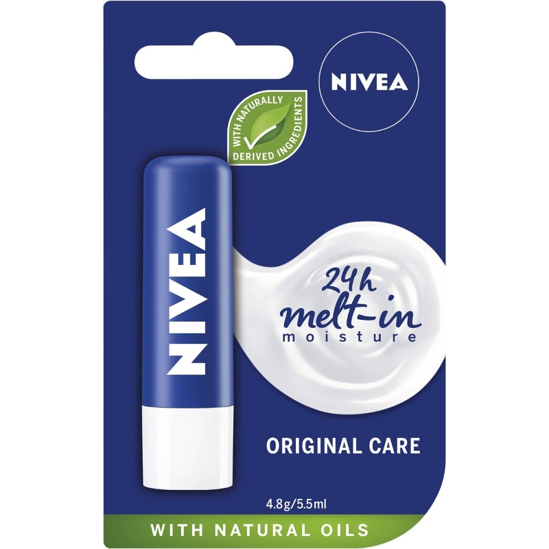 Son dưỡng Nivea Original Care Moisturising Lip Balm + Shea Butter 4.8g