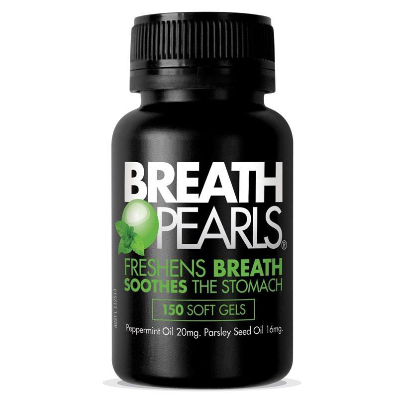 Viên uống thơm miệng Breath Pearls Natural Capsules 150