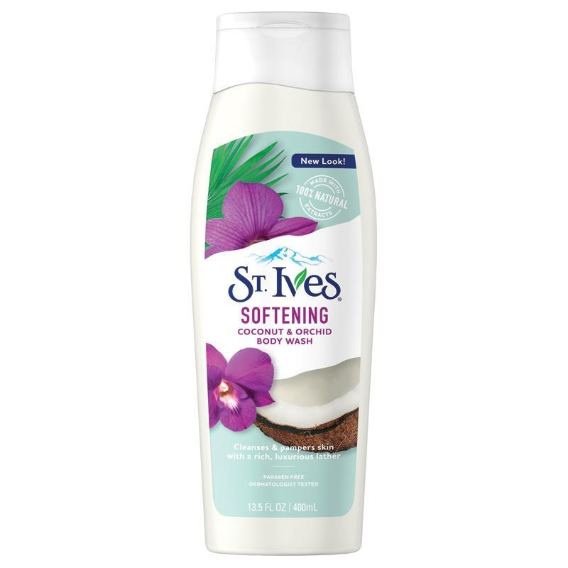 Sữa tắm St Ives Soft And Silky Body Wash Coconut And Orchid 400ml