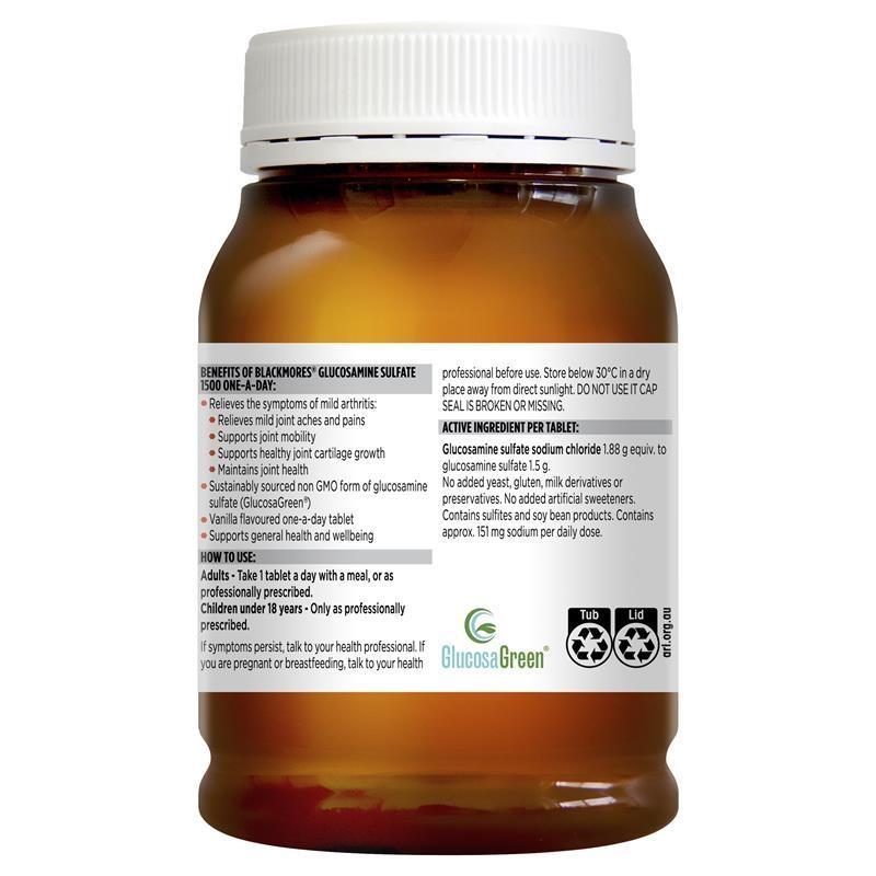 Viên uống hỗ trợ xương khớp Blackmores Glucosamine Sulfate 1500mg One-A-Day 180 Tablets