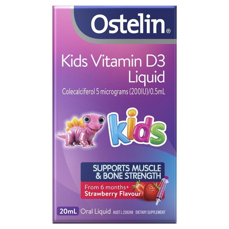 Bổ sung vitamin D3 - Ostelin Kids Vitamin D3 Liquid - Vitamin D for Children - 20mL