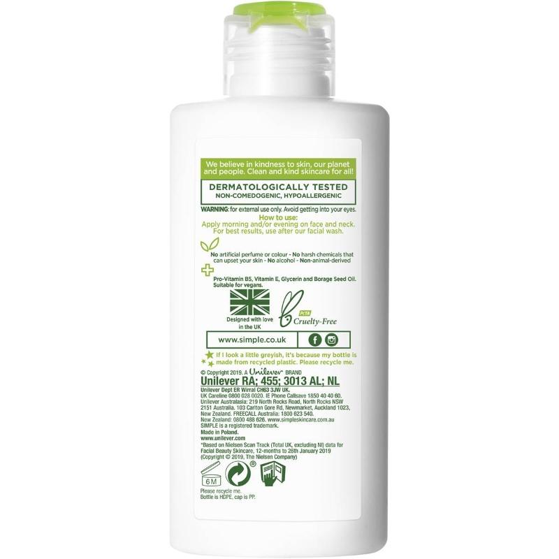 Kem dưỡng ẩm Simple Kind To Skin Light Moisturiser Hydrating 125ml