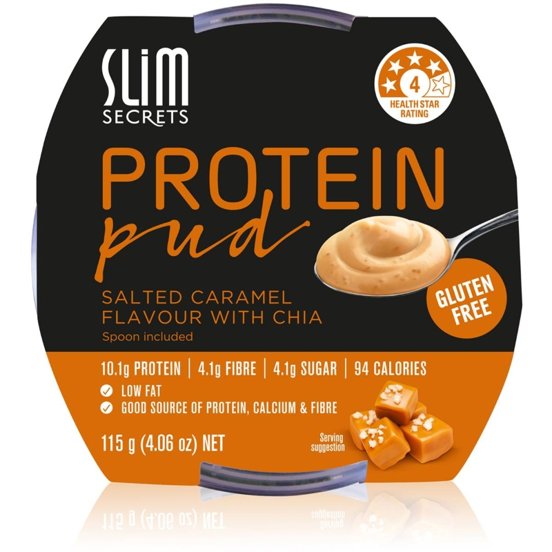 Slim Secrets Protein Pud With Chia Salted Caramel 115G