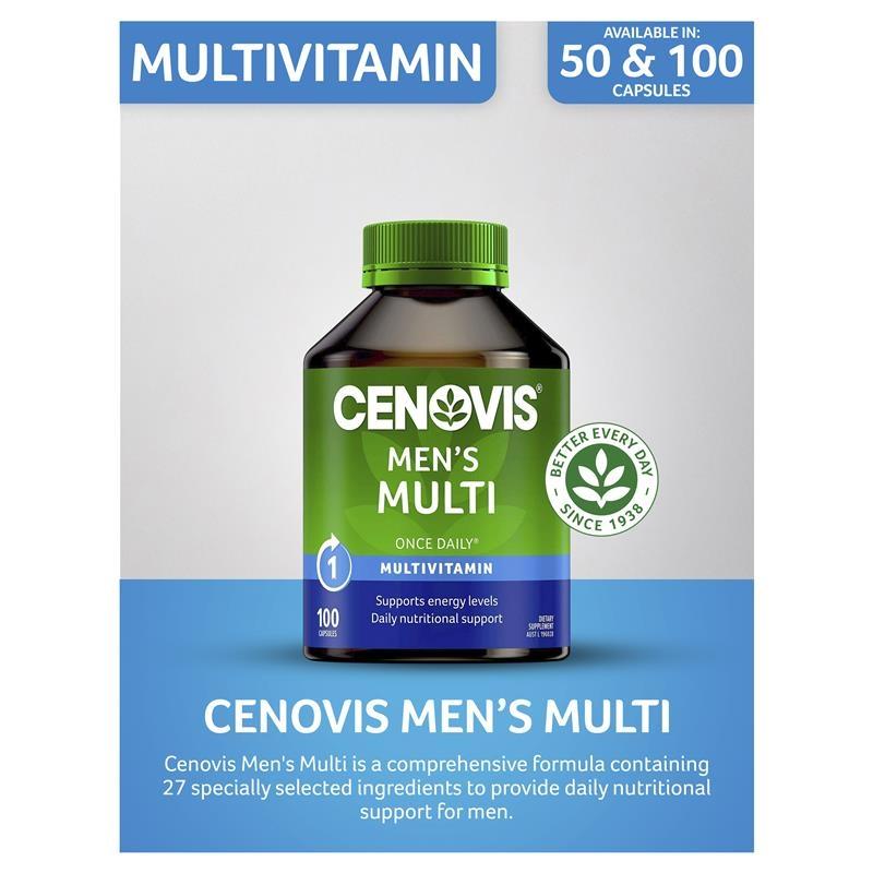 Cenovis Men's Multi - Once-Daily Multivitamin - 100 Capsules