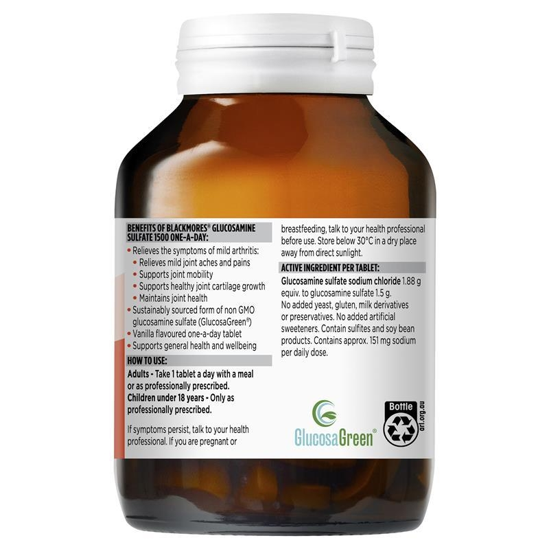 Blackmores Glucosamine Sulfate 1500mg One-A-Day 90 Tablets