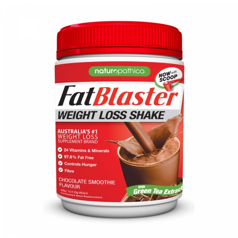 Naturopathica Fatblaster WEIGHT LOSS SHAKE CHOCOLATE 30% LESS SUGAR 430G