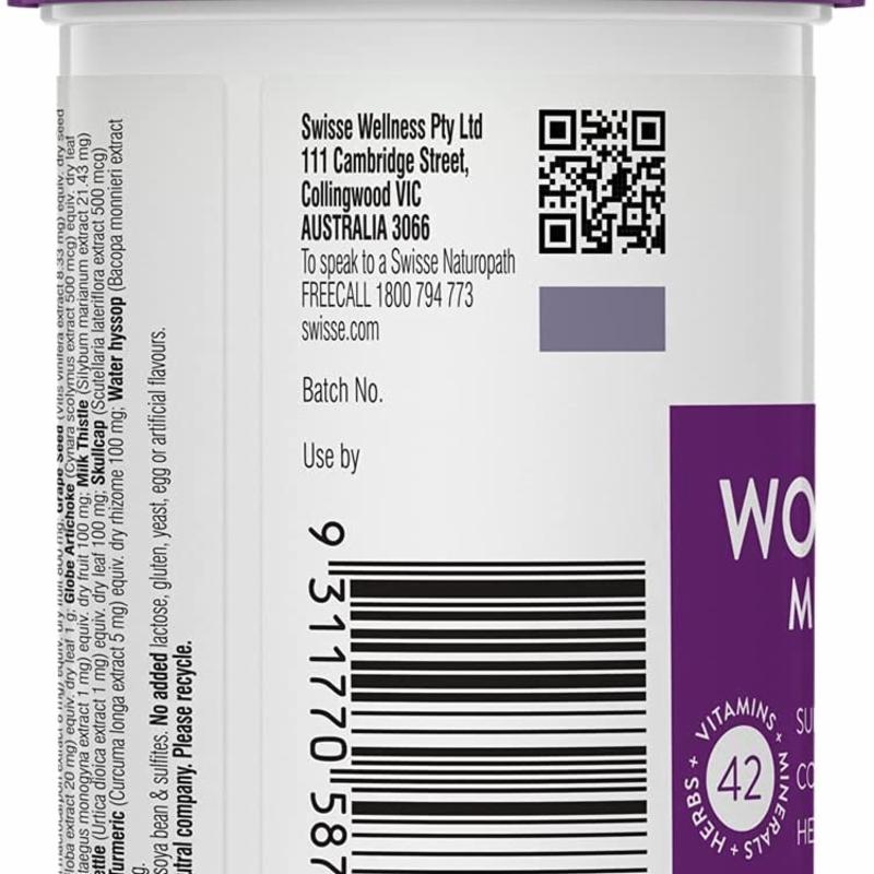 Vitamin tổng hợp cho phụ nữ trên 50 tuổi Swisse Womens 50+ Ultivite 60 Tablets