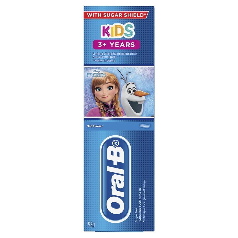 Kem đánh răng cho trẻ từ 3 tuổi Oral B Kids Toothpaste 3+ Years Frozen 92g