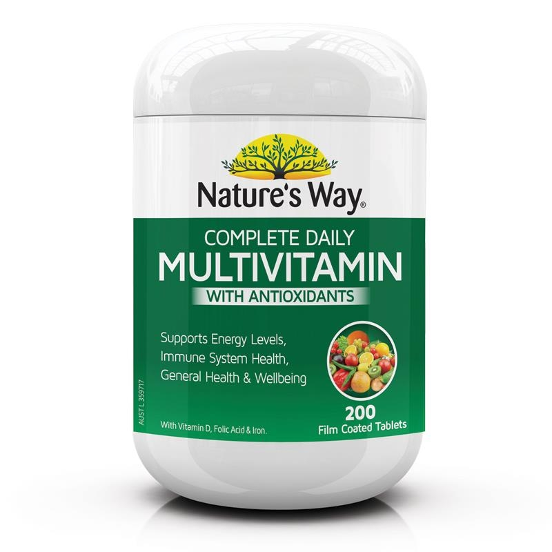 Nature's Way Complete Daily Multivitamin 200 Tablets New And Improved