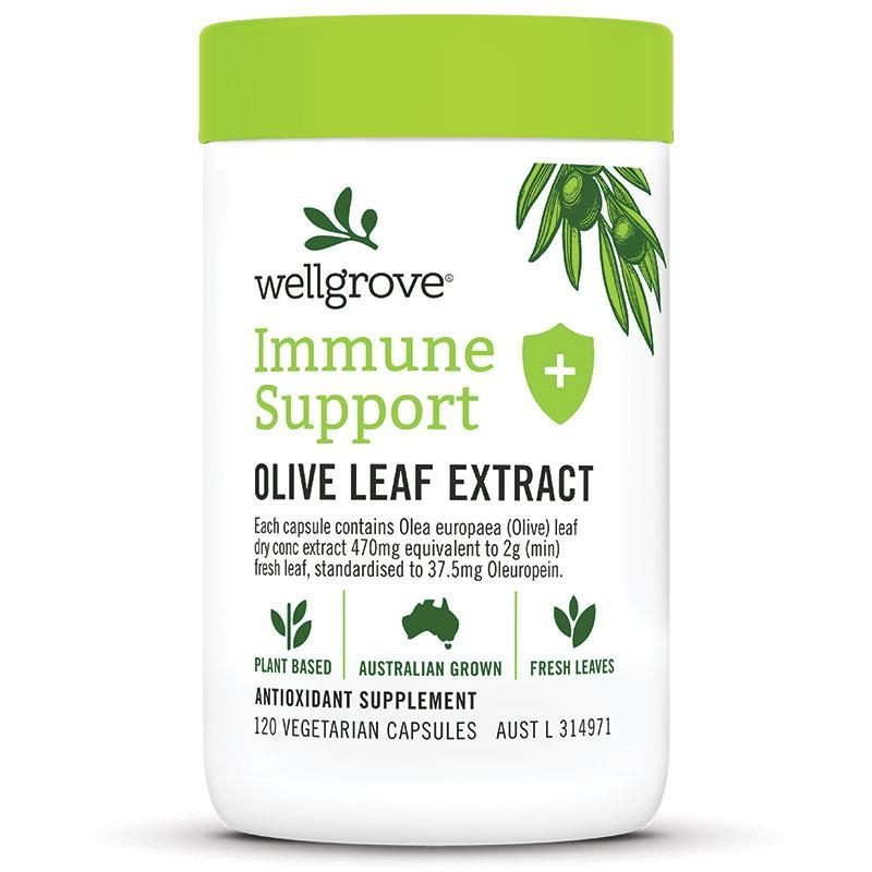 Wellgrove Immune Support Olive Leaf Extract 120 Capsules