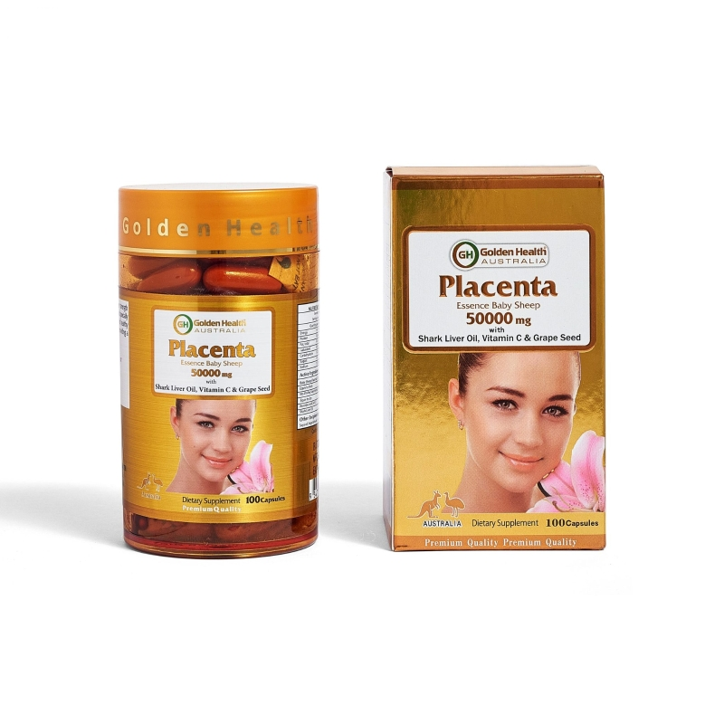 Golden Health Sheep Placenta 50000mg 100 Capsules