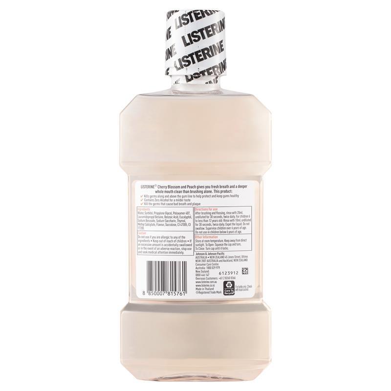 Listerine Mouthwash Cherry Blossom & Peach Limited Edition 500ml