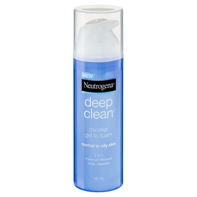 Neutrogena Deep Clean Micellar Gel to Foam Normal to Oily Skin 142ml