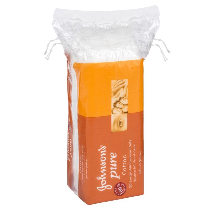 Bông tẩy trang Johnson's Pure Cotton Large All-Purpose Pads 50 Pack