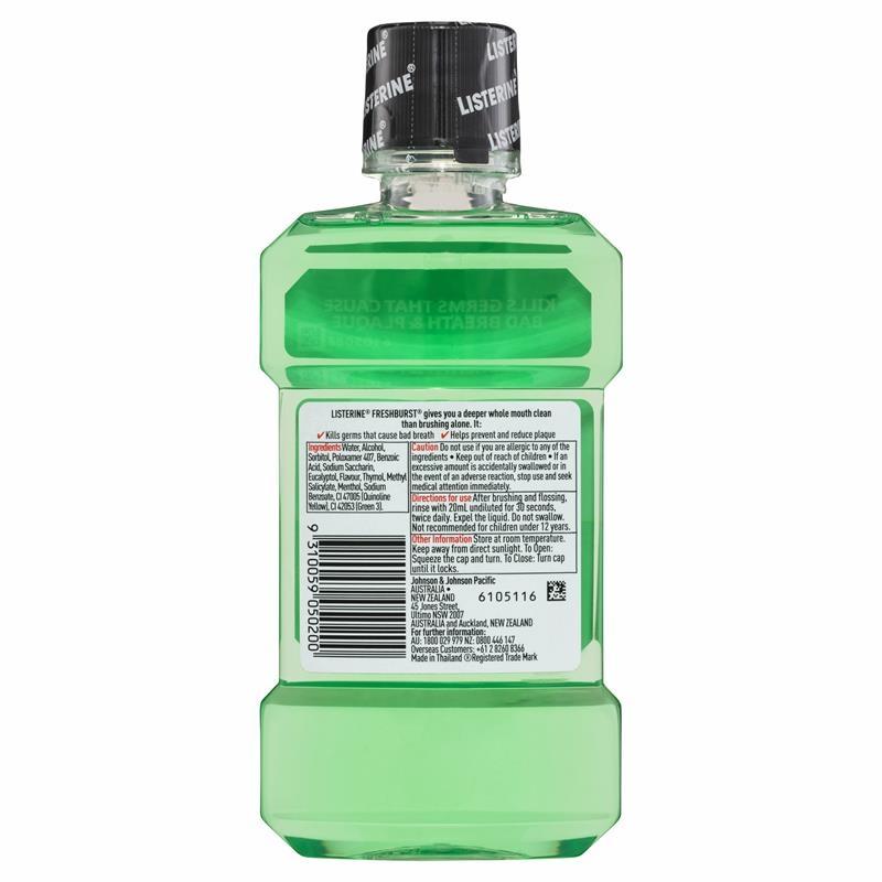 Listerine Fresh Burst Mouthwash 250mL