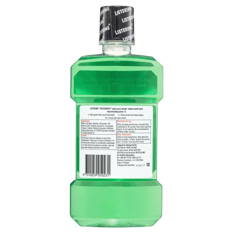 Listerine Fresh Burst Mouthwash 1Litre