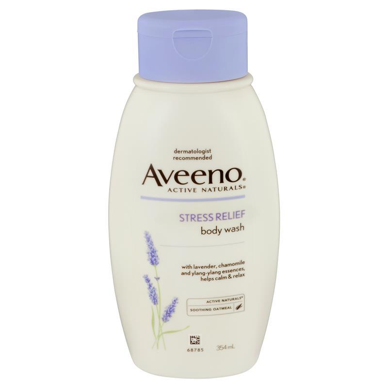 Sữa tắm Aveeno Active Naturals Stress Relief Body Wash Lavender, Chamomile and Ylang-Ylang Essences 354mL