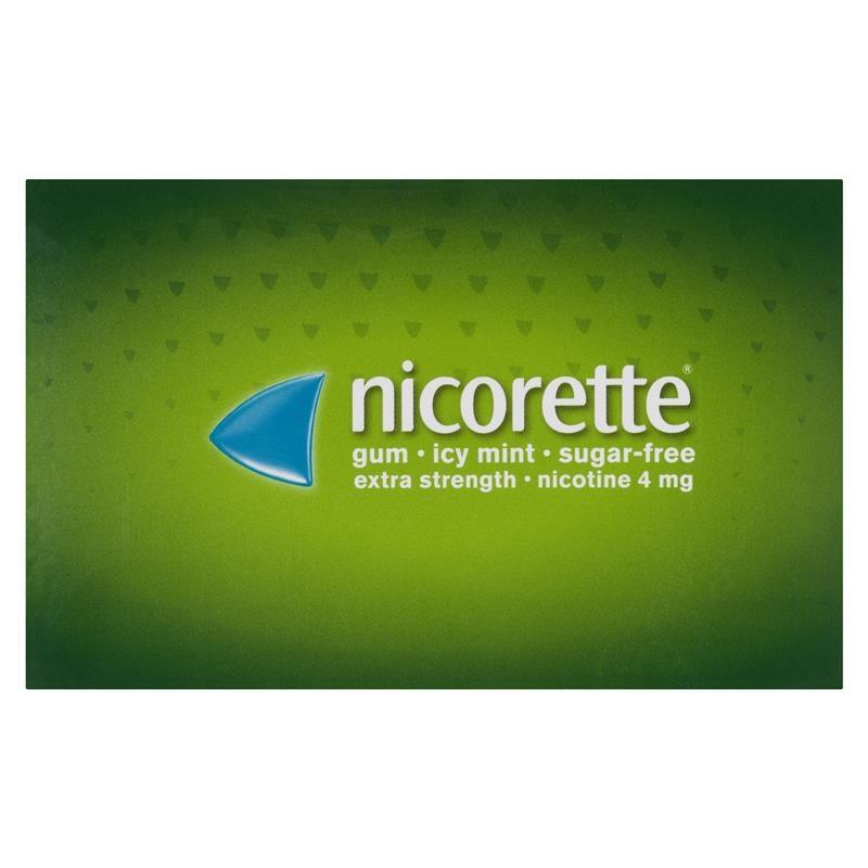Nicorette Gum 4mg Icy Mint Pocket Pack 100 Pieces