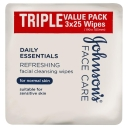 Johnson's Daily Essentials Facial Cleansing Wipes Normal Skin 3 x 25 Pack