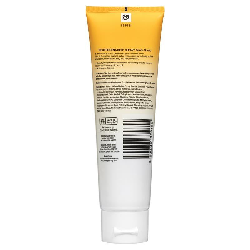 Sữa rửa mặt Neutrogena Deep Clean Gentle Scrub 125ml