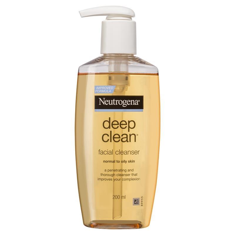 Sữa rửa mặt dành cho da dầu - Neutrogena Deep Clean Facial Cleanser Normal to Oily Skin 200mL
