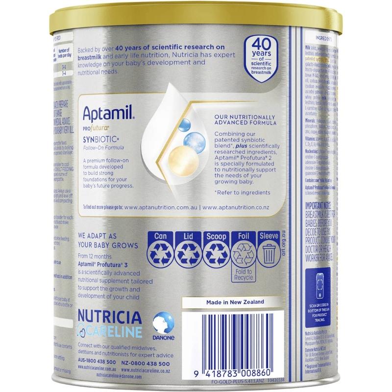 Aptamil Profutura 2 Premium Follow-on Formula From 6 To 12 Months 900g