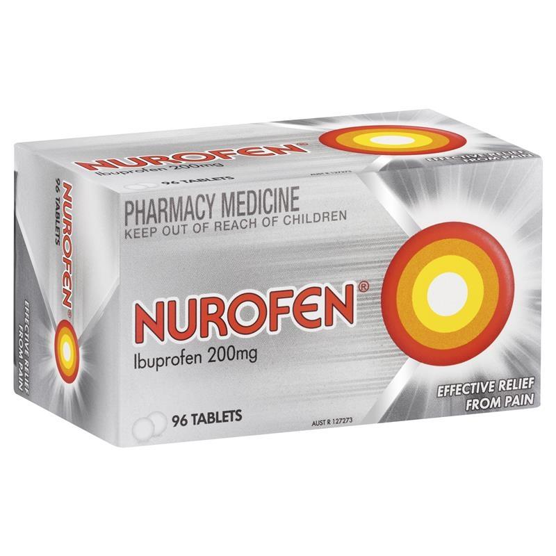Nurofen Ibuprofen Pain Relief Tablets 200mg 96 Pack