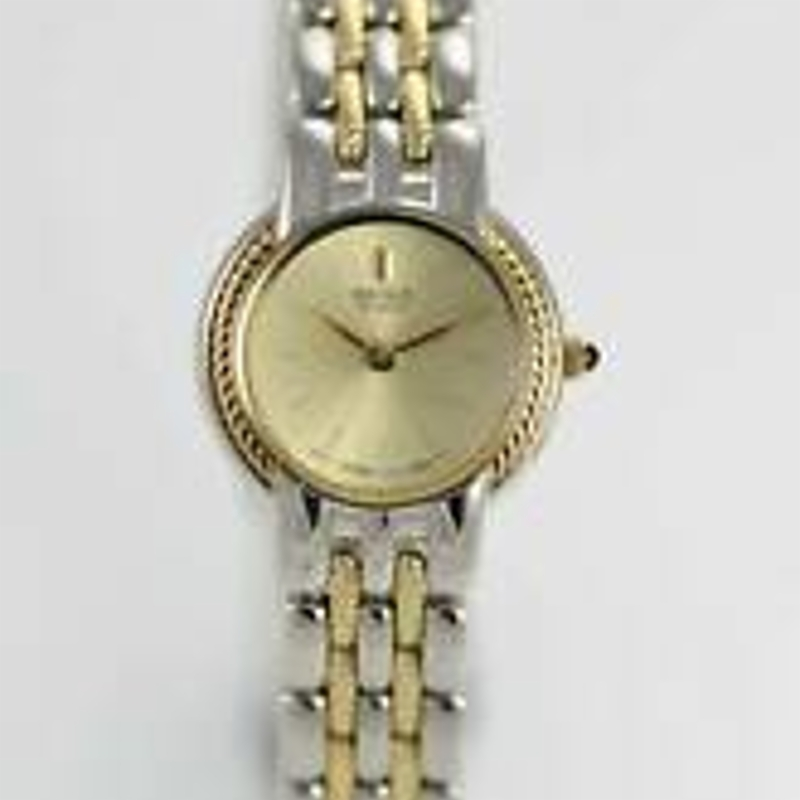 Seiko Womens Watch Champagne Stainless Steel Gold Silver Water Resistant Quartz