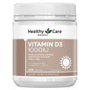 Healthy Care Vitamin D3 1000IU 500 Capsules