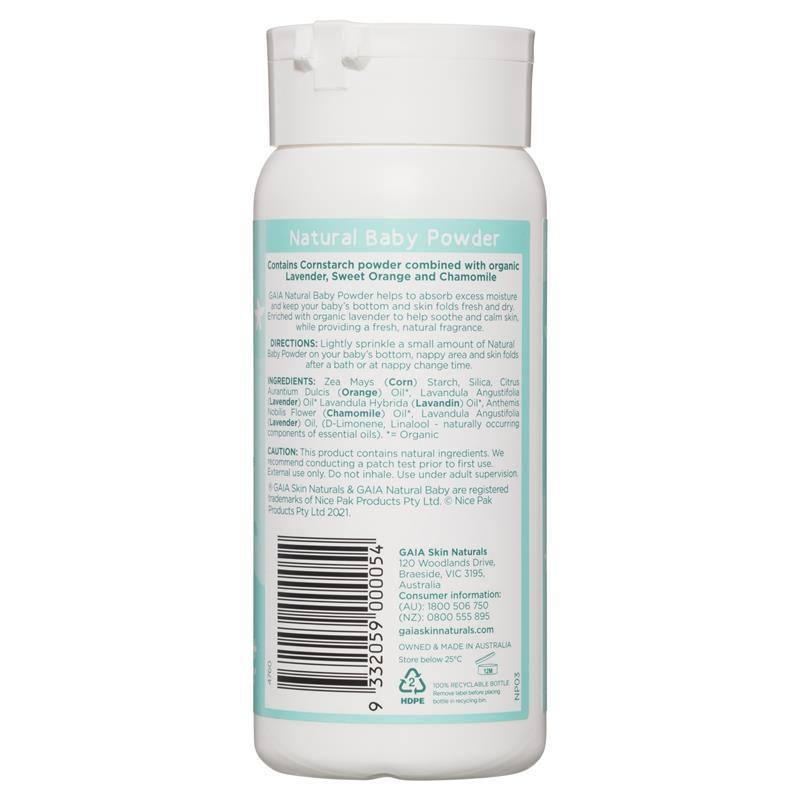 Gaia Natural Baby Powder 100g