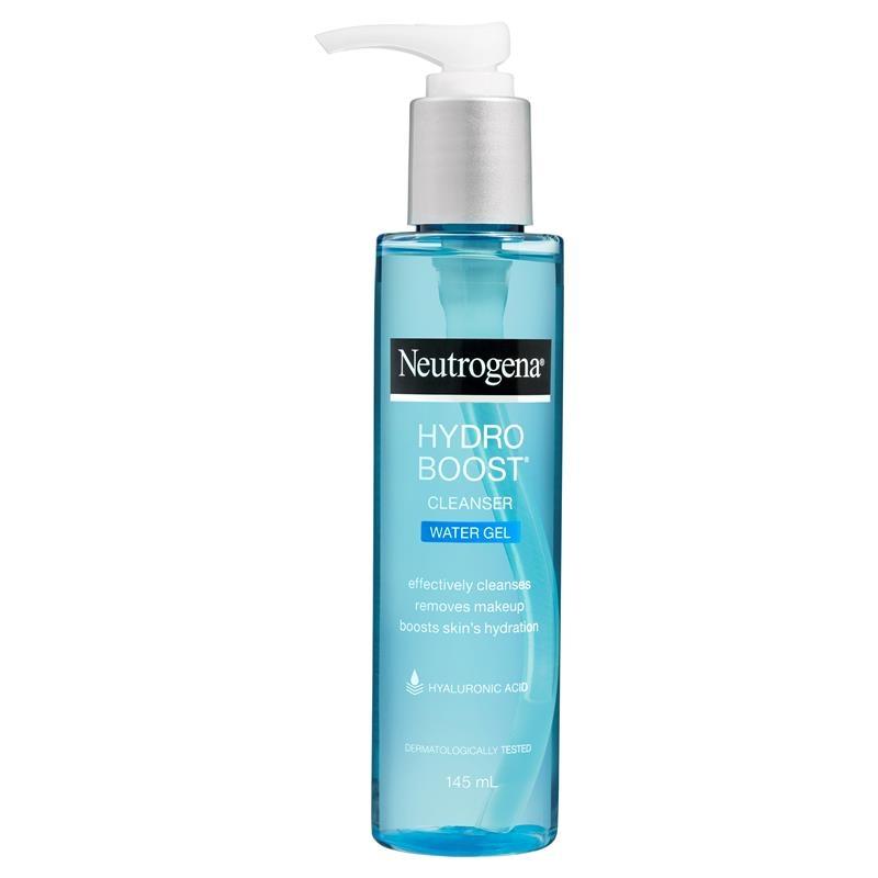 Sữa rửa mặt Neutrogena Hydro Boost Cleanser Water Gel 145ml (dành cho da khô)