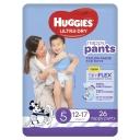 Huggies Ultra Dry Nappy Pants Size 5 12-17kg Boy 26 Pack