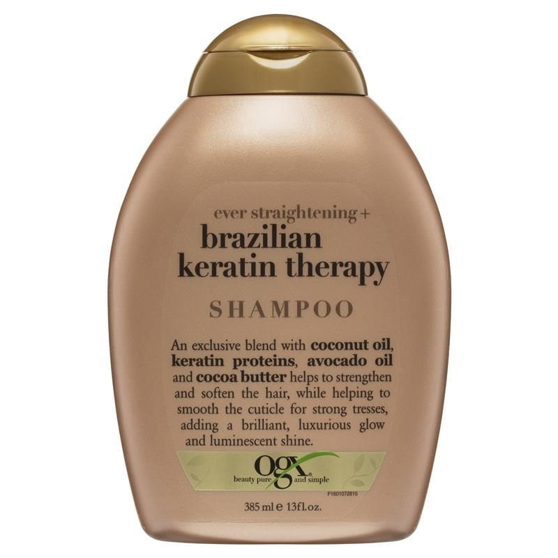 OGX Brazillian Keratin Therapy Ever Straight Shampoo 385mL