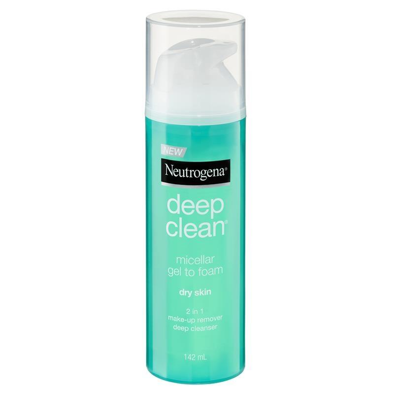 Neutrogena Deep Clean Micellar Gel to Foam Dry Skin 142ml