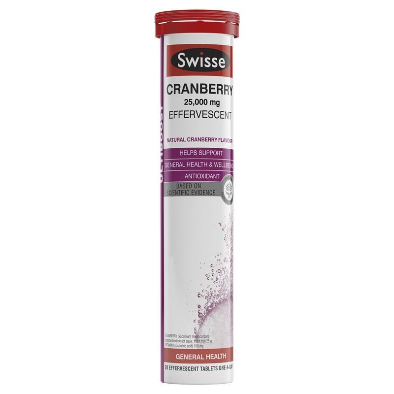 Swisse Ultiboost Cranberry Effervescent 60 Tablets
